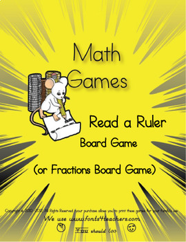 Read a Ruler, Fractions Board Game