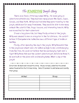 Read a Story, Identify Animals, & Groups