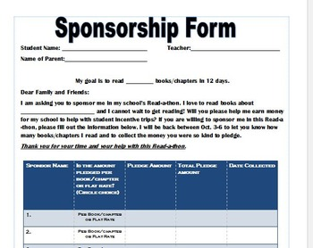 Read-a-thon Forms