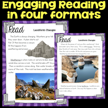Read about How Weathering and Erosion Change Landforms - Second Science Stations