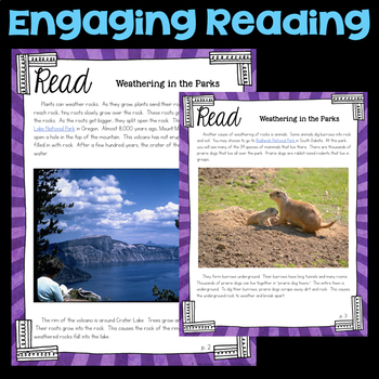 Read about Weathering and Erosion -  4th Grade Science Stations