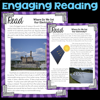 Read about Where We Get Electricity -  Fourth Grade Science Stations
