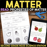 Read about the Properties of Matter Second Grade Science Stations