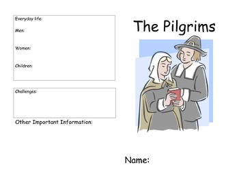 """Read along guide for """"If You Lived During the time of the Pilgrims"""""""