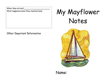 """Read along guide for """"If you Sailed on the Mayflower."""""""