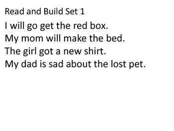 Read and Build Sentences