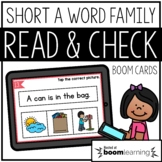 Read and Check {Short A} BOOM Cards Distance Learning