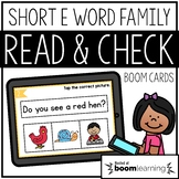 Read and Check {Short E} BOOM Cards Distance Learning