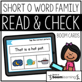 Read and Check {Short O} BOOM Cards Distance Learning