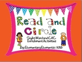 Read and Circle: CVC, Sight Words, and Color Words Practice