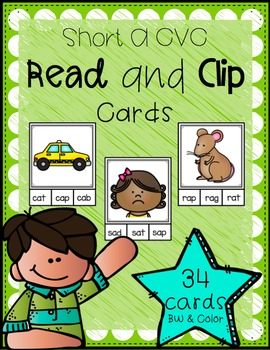 Read and Clip Cards (Short A CVC)