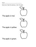 Read and Color Apples