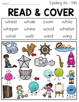 Read and Cover Color Consonant Alternative Spellings