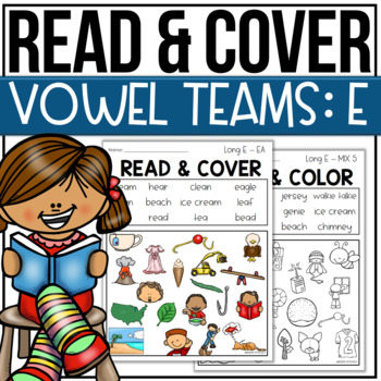 Read and Color Cover Vowel Teams E