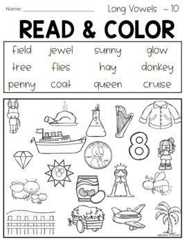 Read and Color Cover Color Teams Mix