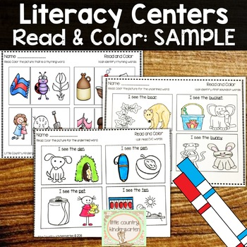 Read and Color Phonics: Sample Freebie