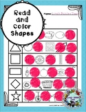 Read and Color Shapes
