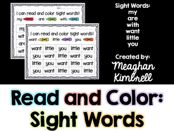 Read and Color Sight Words
