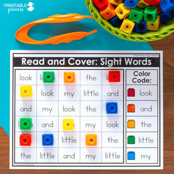 Read and Cover | Editable Sight Word Activity