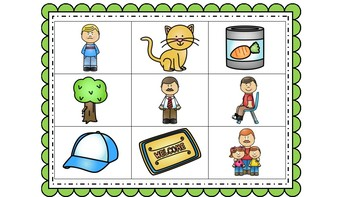 Read and Cover - Kindergarten CVC words
