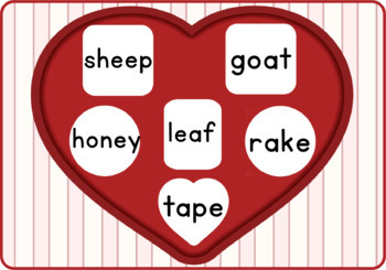 Read and Cover Long Vowel: Valentine's Day