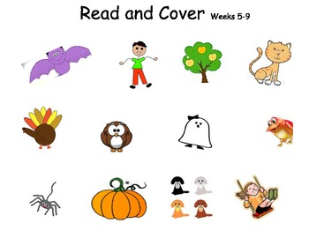 Read and Cover Sight Word Sentences - Weeks 1-9