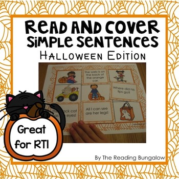 Read and Cover Simple Sentences {Halloween Edition}