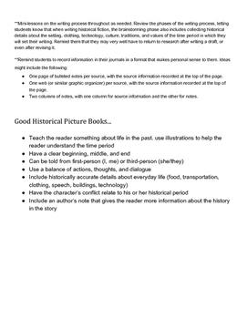 Historical Fiction Book Project (A Mini Unit)