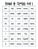 Read and Cross Out Sight Word Practice