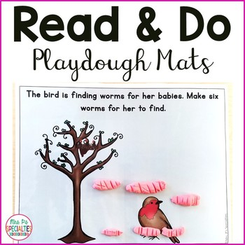 Read and Do Playdough Mats: Spring Edition