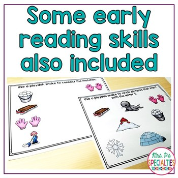 Read and Do Playdough Mats: Winter Reading Comprehension