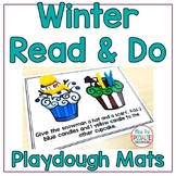 Reading Comprehension Playdough Mats - Build Functional Reading Skills: Winter