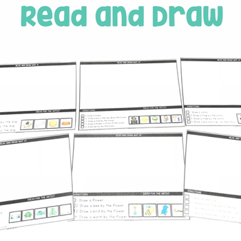 Read and Draw | Following Directions | Read and Color