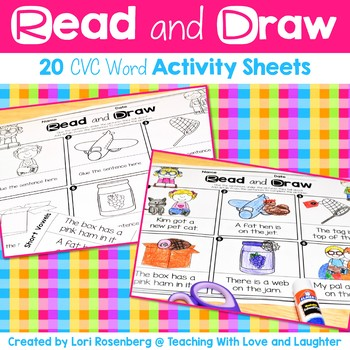 Read and Draw {CVC Words Edition}