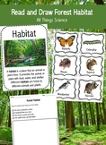 Read and Draw Forest Habitat Reading Comprehension Set