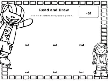 Read and Draw Freebie