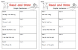 Read and Draw Sentences CVC words