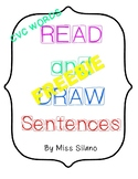 Read and Draw Sentences- CVC words FREEBIE