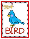 Read and Draw Single Word Vocabulary Printable: BIRD
