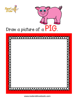 Read and Draw Single Word Vocabulary Printable: PIG
