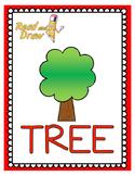Read and Draw Single Word Vocabulary Printable: TREE
