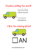 Read and Draw Single Word Vocabulary Printable: VAN