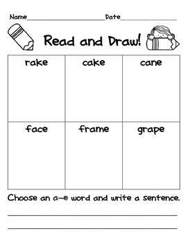 Read and Draw Spelling Patterns Packet