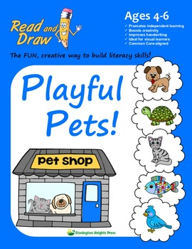 Read and Draw Vocabulary Printables NO PREP: Playful Pets!