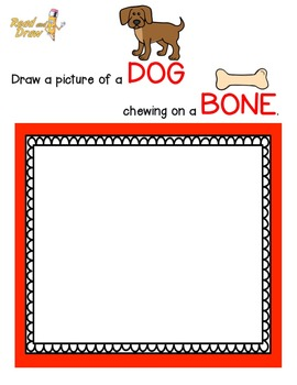 Read and Draw Vocabulary Printables NO PREP: Playful Pets Sampler!