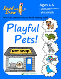 Read and Draw Vocabulary Printables NO PREP: Playful Pets