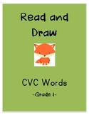 Read and Draw Worksheets (Grade One CVC Words)