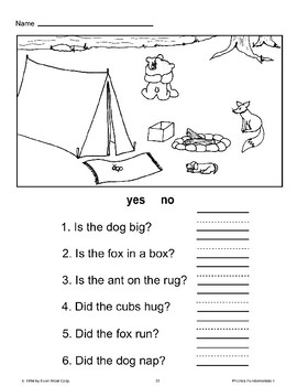 Read and Draw, Yes/No, Unscramble