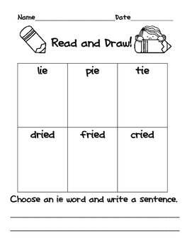 Read and Draw with Long I Spelling Patterns
