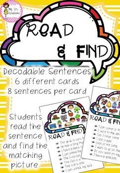 Read and Find - Decodable Sentences